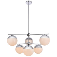 Decovio 12993-CI6 Oyster Bay 6 Light 36 inch Chrome Pendant Ceiling Light