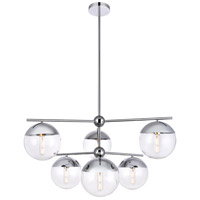 Decovio 12994-CI6 Oyster Bay 6 Light 36 inch Chrome Pendant Ceiling Light