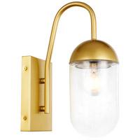 Decovio 13019-B1 Malta 1 Light 5 inch Brass Wall sconce Wall Light