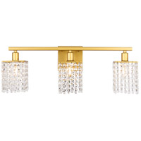 Decovio 13116-BCR3 Adams 3 Light 24 inch Brass Wall sconce Wall Light