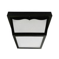 Decovio MON700501LBK Montauk LED 10 inch Black Outdoor LED Flush