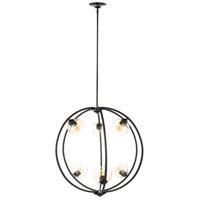 Decovio 10414-B6 Fenner 6 Light 32 inch Black Pendant Ceiling Light