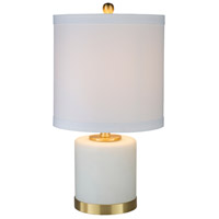 Decovio 10417-W1 Diana 22 inch 100 watt White Table Lamp Portable Light