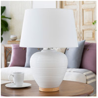Decovio 10555-W1 Roslyn 24 inch 100 watt White Table Lamp Portable Light alternative photo thumbnail