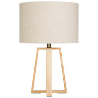 Decovio 10670-I1 Langhorne 22 inch 100 watt Ivory Table Lighting Portable Light