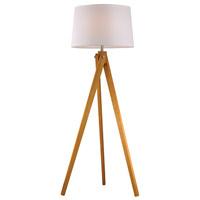 Decovio 16958-NW1 Longswamp 63 inch 150 watt Natural Wood Tone Floor Lamp Portable Light