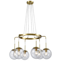 Decovio 17051-NAL6 Trumansburg LED 32 inch New Aged Brass Chandelier Ceiling Light