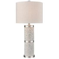 Decovio 17077-GT1 Hounsfield 25 inch 100 watt Grey Terazzo with Polished Nickel Table Lamp Portable Light Tall