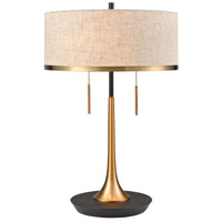 Decovio 17097-AB2 Galway 22 inch 60 watt Aged Brass with Black Table Lamp Portable Light
