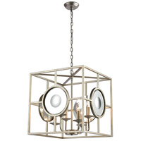 Decovio 17114-SL4 Bloom 4 Light 20 inch Silver Leaf with Mirror Pendant Ceiling Light