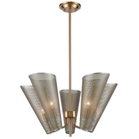 Decovio 17132-AS5 Dundee 5 Light 26 inch Antique Silver with Satin Brass Pendant Ceiling Light