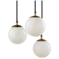 Decovio 11709-W3 Rhinebeck 3 Light 13 inch White Pendant Ceiling Light