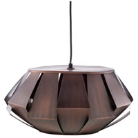 Decovio 11990-C1 Lampeter 1 Light 19 inch Dark Brown Pendant Ceiling Light
