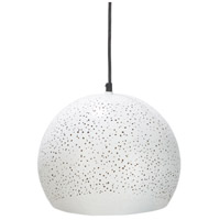 Decovio 12640-W1 Cornwall 1 Light 12 inch White Pendant Ceiling Light