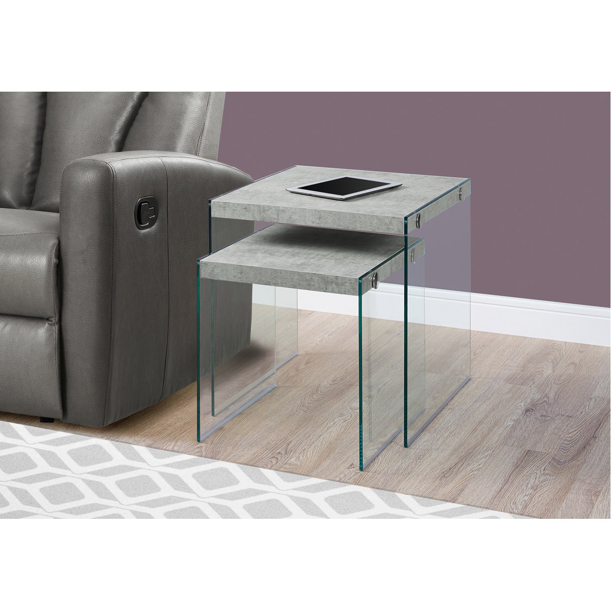 Decovio 15655-GC Cortland 20 X 20 inch Grey and Clear ... on Living Accents Cortland Patio Set id=20612