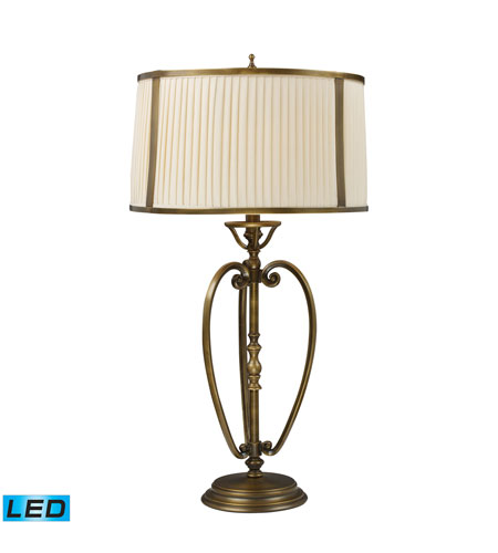 Dimond Lighting 11053/1-LED Williamsport 31 inch 13.5 watt Vintage Brass Patina Table Lamp Portable Light photo