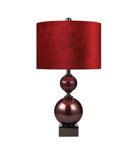 Dimond Lighting Everson 1 Light Table Lamp in Cherry Glass And Black Nickel 111-1073 photo