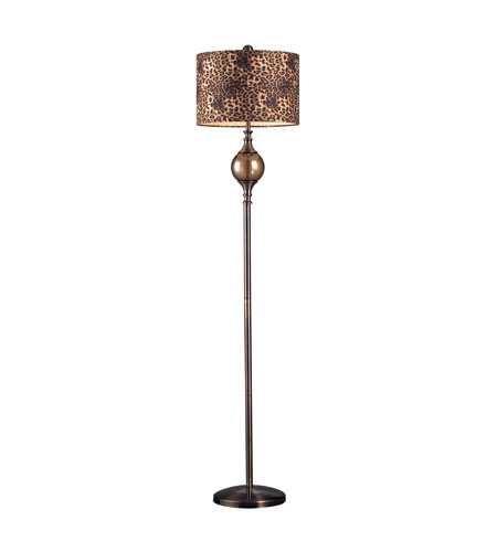 Dimond Lighting Alliance 1 Light Table Lamp in Coffee Plating And Smoked Glass 111-1098 photo