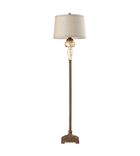 Dimond Lighting Lorraine 1 Light Floor Lamp in Distressed Pearlescent With Rust 113-1128 photo