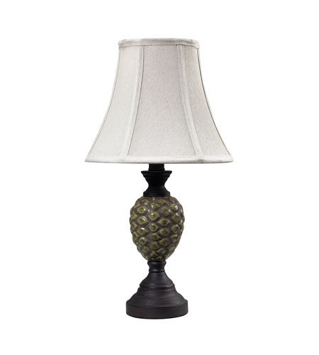Dimond Lighting Wood Valley 1 Light Mini Lamp in Aged Green Glaze With Antique Bronze 113-1131 photo