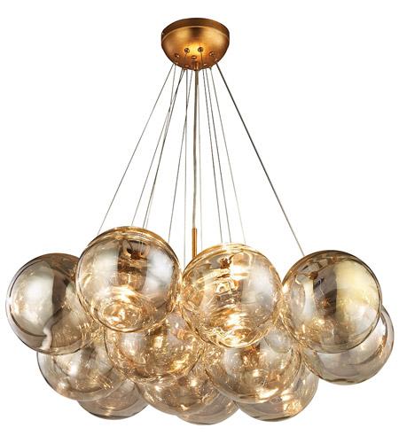 Cielo 3 Light 33 Inch Antique Gold Leaf Chandelier Ceiling