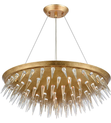 Dimond Lighting 1140-069 Sting 7 Light 22 inch Gold Leaf Chandelier Ceiling Light photo