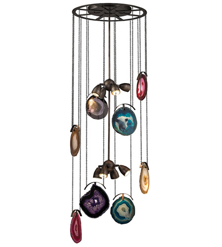Dimond Lighting 1141-007 Gallery 8 Light 20 inch Oil Rubbed Bronze & Brushed Slate Chandelier Ceiling Light photo
