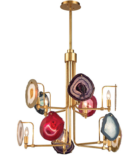 Dimond Lighting 1141-008 Gallery 10 Light 30 inch Antique Gold Leaf Chandelier Ceiling Light photo