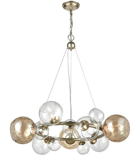 Dimond lighting 1141 025 bubbles 9 light 32 inch silver leaf and dimond lighting 1141 025 bubbles 9 light 32 inch silver leaf and champagne chandelier ceiling light aloadofball Gallery