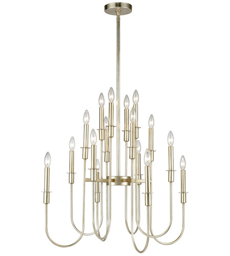 Dimond Lighting 1141-028 Waxley 16 Light 28 inch Antique Silver Leaf Chandelier Ceiling Light photo