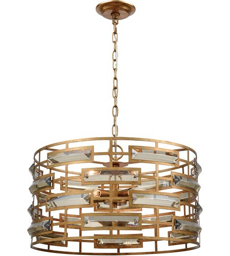 Dimond Lighting 1141 031 Metro 5 Light 22 Inch Gold Leaf And Clear Crystal Pendant Ceiling