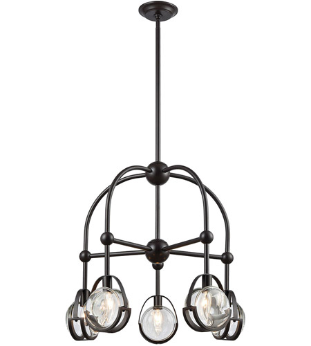 Dimond Lighting 1141-062 Focal Point 5 Light 25 inch Oil Rubbed Bronze Chandelier Ceiling Light photo