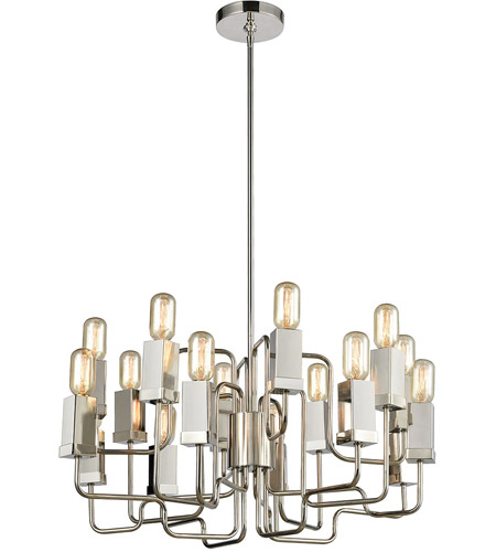 Dimond Lighting 1141-065 Symposium 16 Light 27 inch Polished Nickel Chandelier Ceiling Light photo