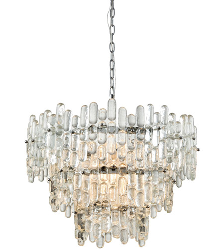 Dimond Lighting 1141-086 Icy Reception 9 Light 27 inch Chrome Chandelier Ceiling Light photo