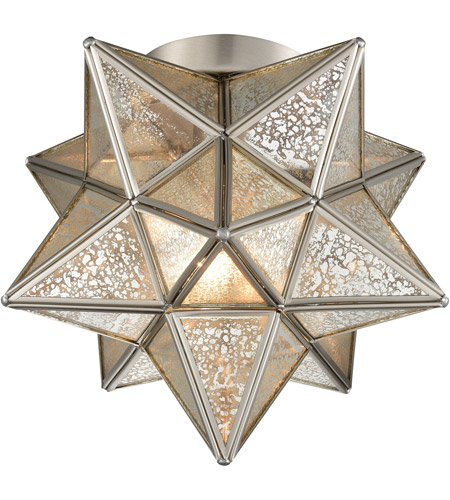 Dimond Lighting 1145-011 Moravian Star 1 Light 10 inch Antique Nickel Flush Mount Ceiling Light photo