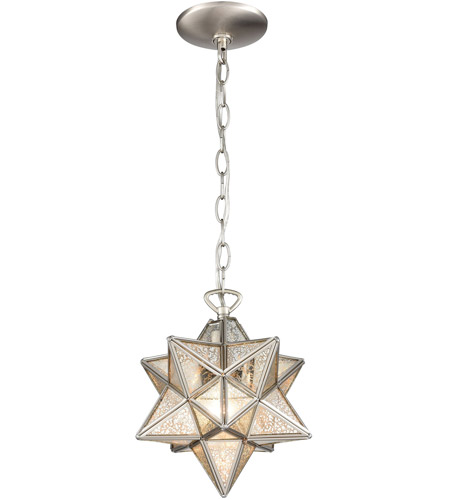 Dimond Lighting 1145-016 Moravian Star 1 Light 9 inch Antique Nickel Mini Pendant Ceiling Light photo