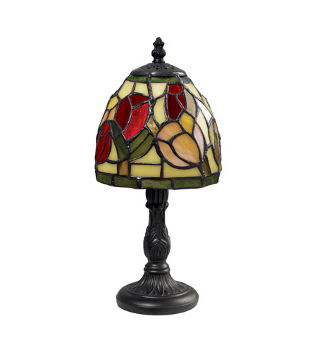 Dimond Lighting 126-0011 Mini Tiffany 12 inch 25 watt Tiffany Bronze Table Lamp Portable Light photo