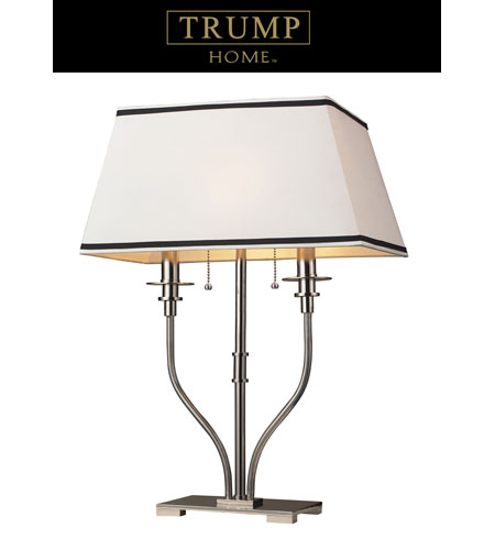 Dimond Lighting Trump Home Central Park Tribeca 2 Light Table Lamp in Polished Nickel 1621/2 photo