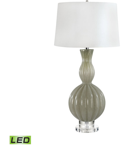 Dimond Lighting 282 LED Gourd 31 Inch 9.5 Watt Taupe Table Lamp Portable  Light
