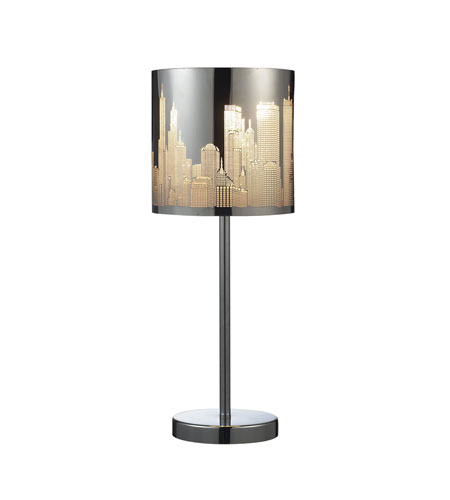 Dimond Lighting 31036/1 Skyline 20 inch 60 watt Polished Stainless Steel Table Lamp Portable Light in Incandescent photo