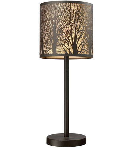 Dimond Lighting 31072/1 Woodland Sunrise 20 inch 60 watt Aged Bronze Table Lamp Portable Light in Incandescent photo