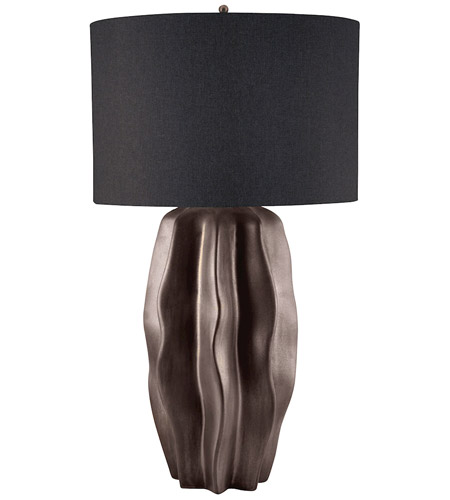 Dimond Lighting 340 Bisque Ceramic 32 Inch 1 Watt Dark Taupe Table Lamp  Portable Light In Incandescent