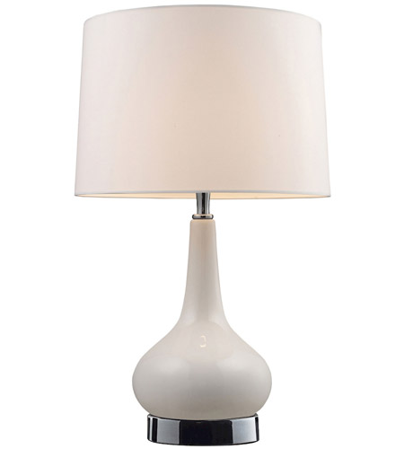 Dimond Lighting Mary Kate and Ashley Continuum 1 Light Table Lamp in White and Chrome 3925/1 photo
