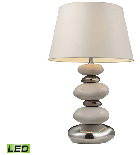 Dimond Lighting 3948/1-LED Elemis 23 inch 13.5 watt Pure White And Chrome Table Lamp Portable Light in LED photo