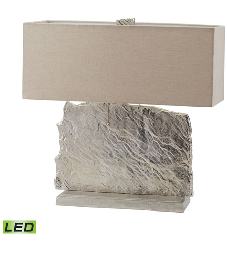 Nickel Aluminium and Fabric Table Lamps