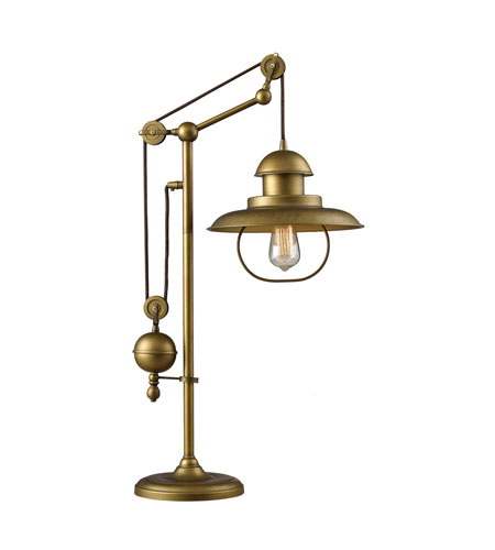 Dimond Lighting Farmhouse 1 Light Table Lamp in Antique Brass 65100-1 photo