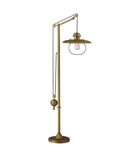 Dimond Lighting Farmhouse 1 Light Floor Lamp in Antique Brass 65101-1 photo
