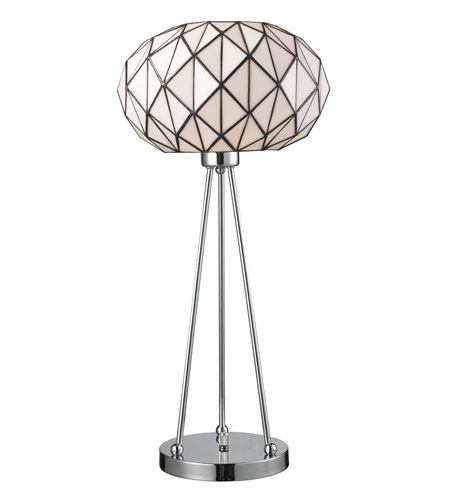 Dimond Lighting Tetra 1 Light Table Lamp in Polished Chrome 72029-1 photo