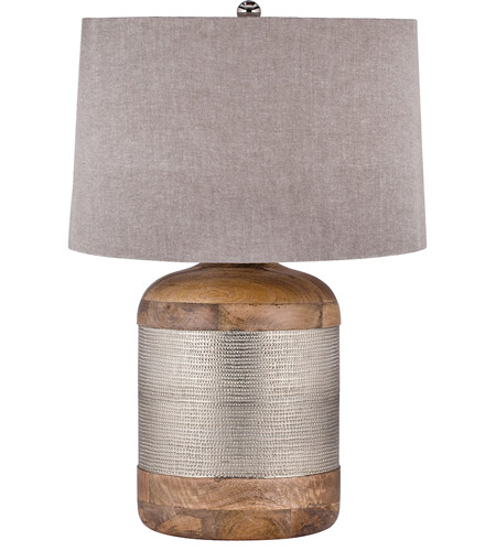 Dimond Lighting 8983 021 Signature 29 Inch 150 Watt Mango Wood And German  Silver Table Lamp Portable Light In Incandescent