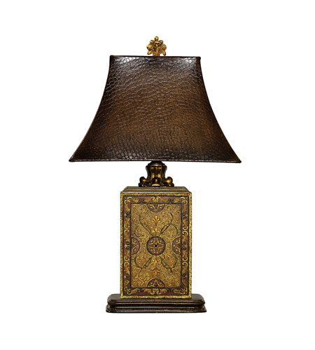 Dimond Lighting Embossed Block 1 Light Table Lamp in Elmsford 91-316 photo